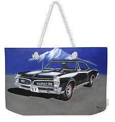Weekender Tote Bag featuring the painting Gto 1967 by Thomas J Herring