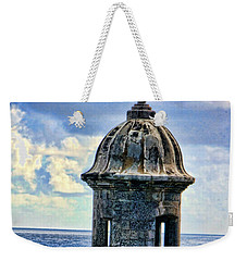 Weekender Tote Bag featuring the photograph Guard Tower At El Morro by Daniel Sheldon