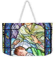 Guardian Angel With Sleeping Boy Weekender Tote Bag