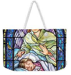 Guardian Angel With Sleeping Girl Weekender Tote Bag