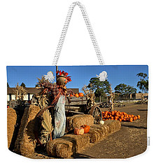 Guarding The Pumpkin Patch Weekender Tote Bag by Michael Gordon