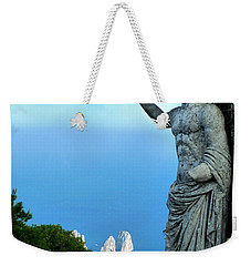 Weekender Tote Bag featuring the photograph Guarding The Water by Mike Ste Marie