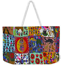 Guatemala Folk Art Quilt Weekender Tote Bag