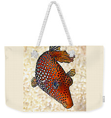 Guinea Fowl Puffer Fish Weekender Tote Bag