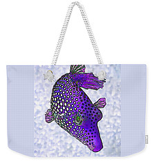 Guinea Fowl Puffer Fish In Purple Weekender Tote Bag