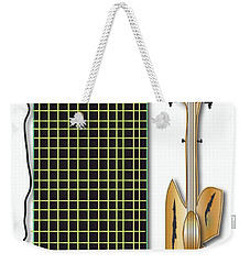 Weekender Tote Bag featuring the digital art Guitar And Amp by Marvin Blaine