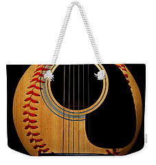 Guitar Baseball Square Weekender Tote Bag