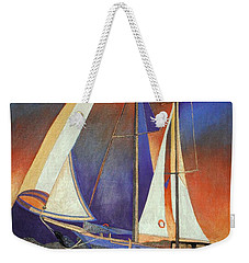 Gulet Under Sail Weekender Tote Bag by Tracey Harrington-Simpson