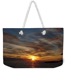 Weekender Tote Bag featuring the photograph Gull Rise by Bonfire Photography