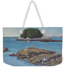 Gulls At Five Islands Weekender Tote Bag