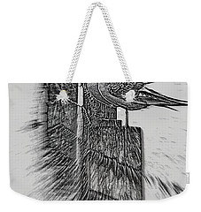 Gulls In Pencil Effect Weekender Tote Bag by Linsey Williams
