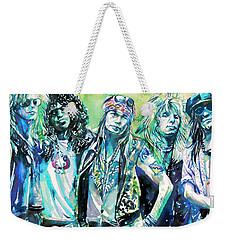 Guns N' Roses - Watercolor Portrait Weekender Tote Bag