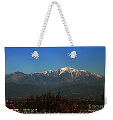 Weekender Tote Bag featuring the photograph Hacienda Heights And Industry Overlook by Clayton Bruster