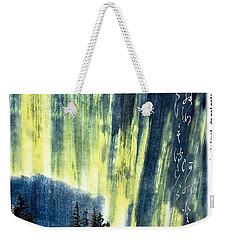 Weekender Tote Bag featuring the photograph Haiga Poster Haiku Canada Conference  by Peter v Quenter