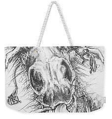 Hair-ied Horse Soilder Weekender Tote Bag by Scott and Dixie Wiley