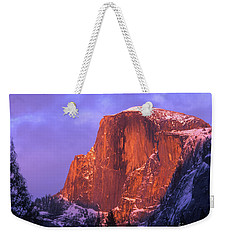 Half Dome Alpen Glow Weekender Tote Bag by Jim and Emily Bush