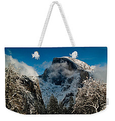 Half Dome Winter Weekender Tote Bag by Bill Gallagher