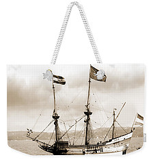 Half Moon Re-entered Hudson River After An Absence Of 300 Years In Sepia Tone Weekender Tote Bag