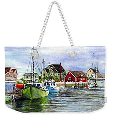 Peggys Cove Nova Scotia Watercolor Weekender Tote Bag