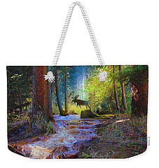Hall Valley Moose Weekender Tote Bag by J Griff Griffin