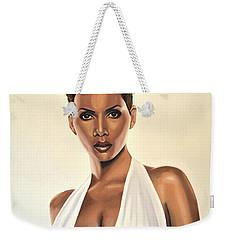 Halle Berry Painting Weekender Tote Bag by Paul Meijering