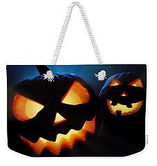 Halloween Pumpkins Closeup -  Jack O'lantern Weekender Tote Bag by Johan Swanepoel