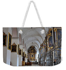 Weekender Tote Bag featuring the photograph Hallway Of A Church Munich Germany by Imran Ahmed