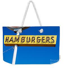 Hamburgers Old Neon Sign Weekender Tote Bag