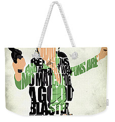 Han Solo From Star Wars Weekender Tote Bag by Ayse Deniz