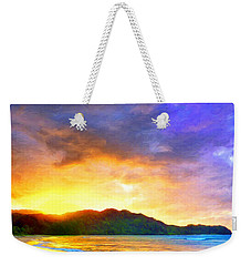 Hanalei Sunset Weekender Tote Bag by Dominic Piperata