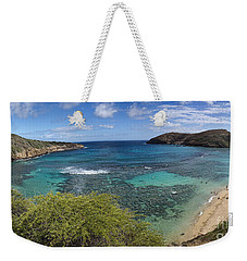 Hanauma Bay Panorama Weekender Tote Bag