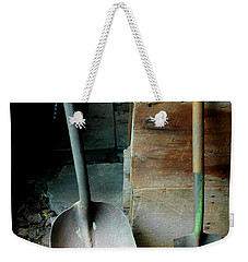 Weekender Tote Bag featuring the photograph Handled And Raked by Christiane Hellner-OBrien