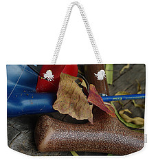 Weekender Tote Bag featuring the photograph Handled With Care by Peter Piatt