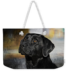 Weekender Tote Bag featuring the photograph Handsome Black Lab by Eleanor Abramson