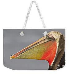 Weekender Tote Bag featuring the photograph Handsome In Red by Bryan Keil