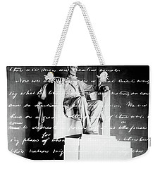 Handwritten Gettysburg Address Weekender Tote Bag