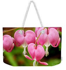 Hanging Hearts In Pink And White Weekender Tote Bag
