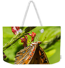 Hanging Off The Side Weekender Tote Bag by Jane Luxton