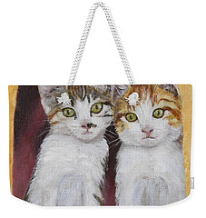 Hanging Out Together Weekender Tote Bag by Alan Mager