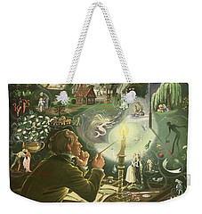 Hans Christian Andersen Weekender Tote Bag by Anne Grahame Johnstone