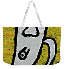 Weekender Tote Bag featuring the painting Happiness 12-003 by Mario Perron