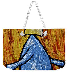 Weekender Tote Bag featuring the painting Happiness 12-004 by Mario Perron