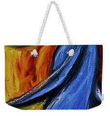 Weekender Tote Bag featuring the painting Happiness 12-005 by Mario Perron