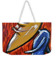 Weekender Tote Bag featuring the painting Happiness 12-006 by Mario Perron