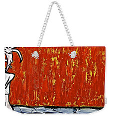 Weekender Tote Bag featuring the painting Happiness 12-007 by Mario Perron
