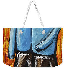 Weekender Tote Bag featuring the painting Happiness 12-008 by Mario Perron