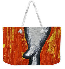 Weekender Tote Bag featuring the painting Happiness 12-009 by Mario Perron