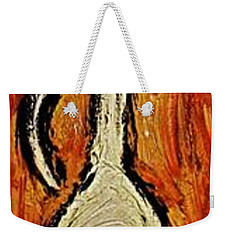 Weekender Tote Bag featuring the painting Happiness 12-011 by Mario Perron