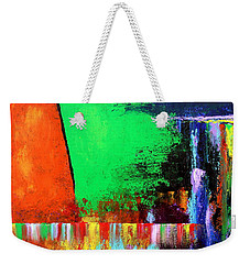 Weekender Tote Bag featuring the painting Happiness by Kume Bryant