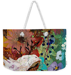 Happiness Weekender Tote Bag by Robin Maria Pedrero